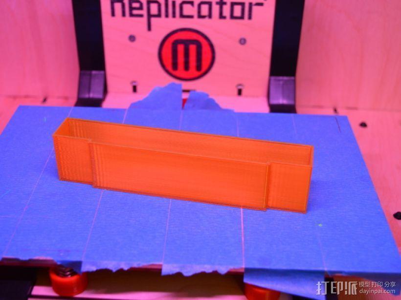 SNES游戏卡防尘保护套 3D模型  图3