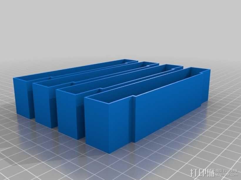 SNES游戏卡防尘保护套 3D模型  图4