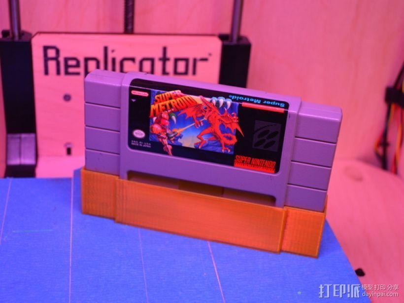 SNES游戏卡防尘保护套 3D模型  图2