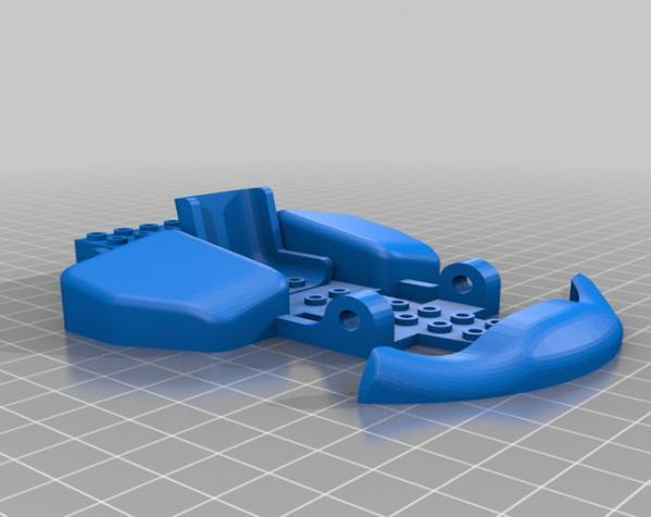 乐高玩具赛车 3D模型  图2