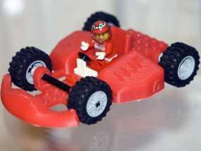 乐高玩具赛车 3D模型