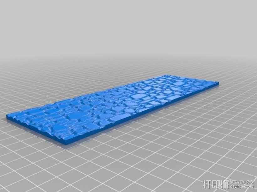 桌游战争游戏鹅卵石路 3D模型  图2