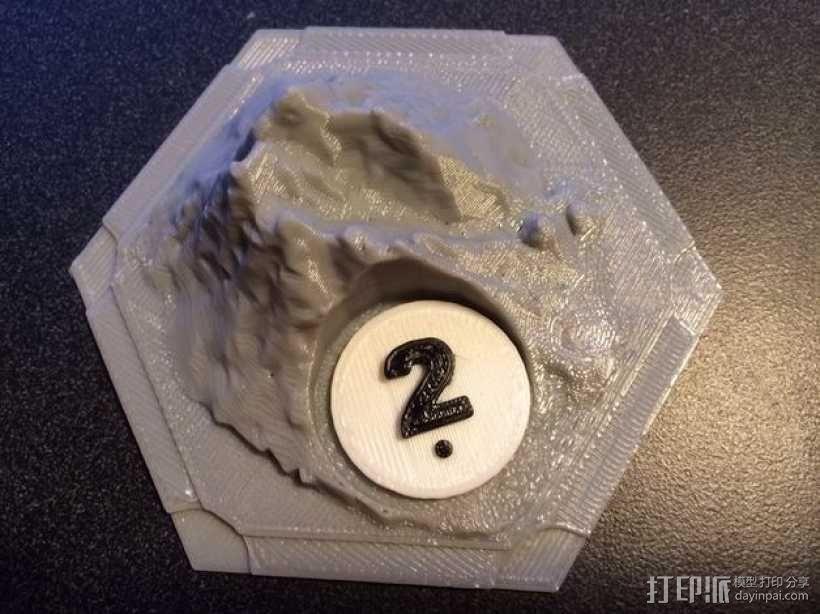 卡坦岛数字标记筹码 3D模型  图2