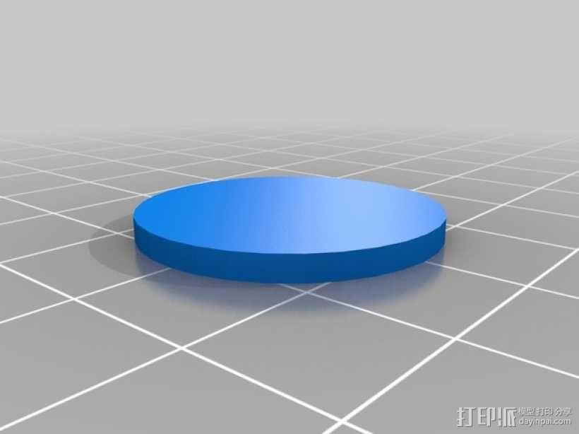 卡坦岛数字标记筹码 3D模型  图4