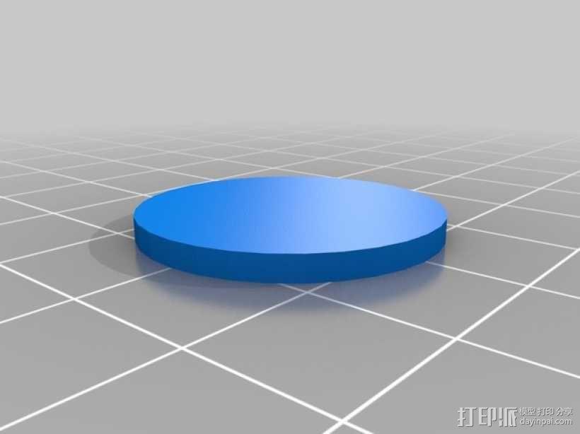 卡坦岛数字标记筹码 3D模型  图3