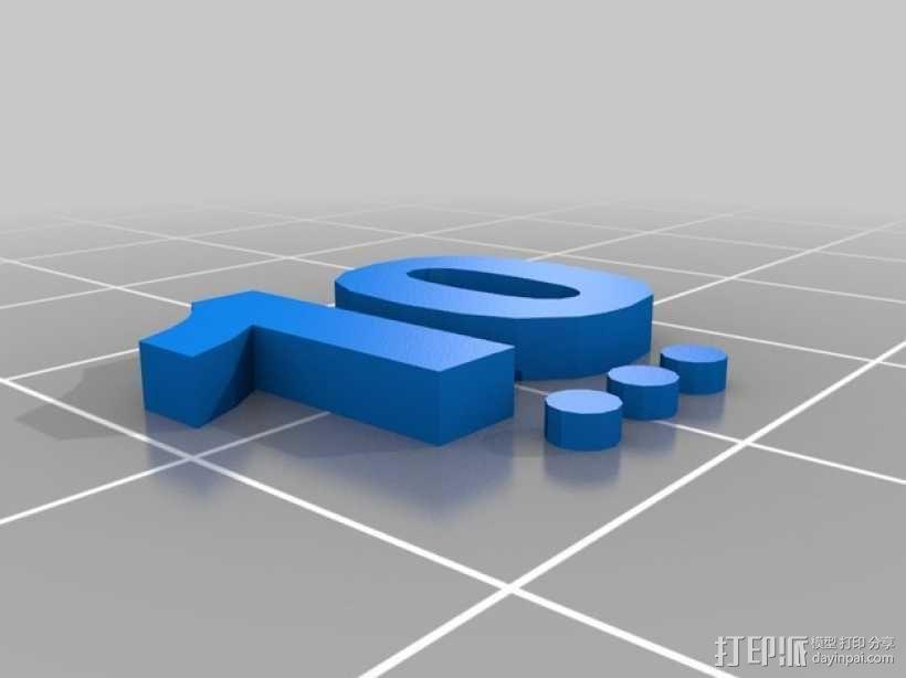 卡坦岛数字标记筹码 3D模型  图8