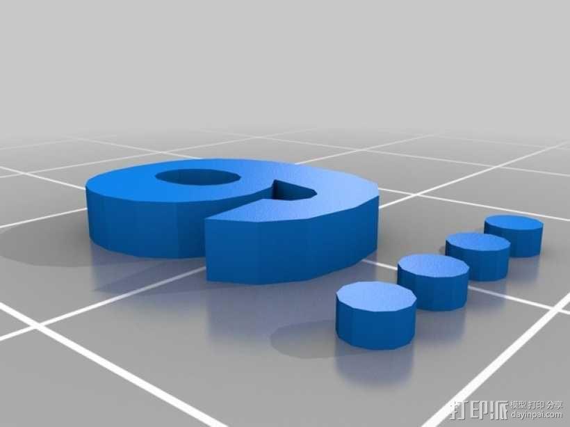 卡坦岛数字标记筹码 3D模型  图12