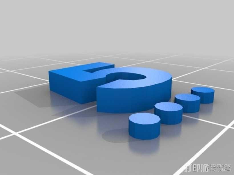 卡坦岛数字标记筹码 3D模型  图21