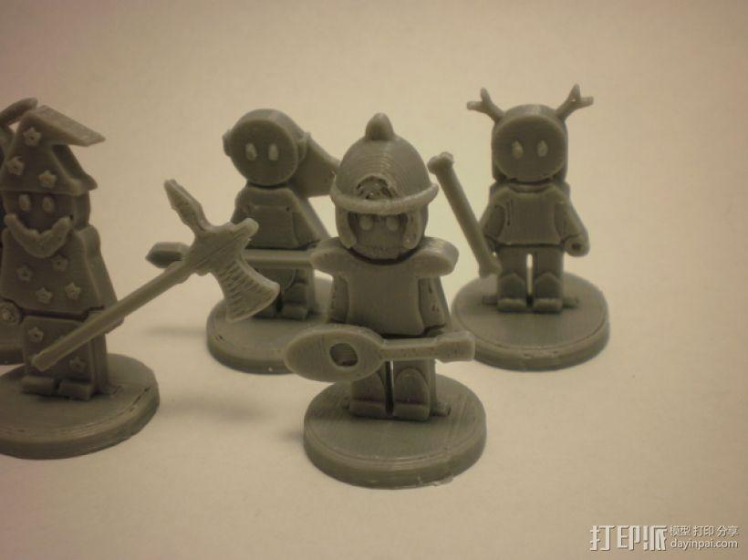 FlatMinis:战士 3D模型  图2