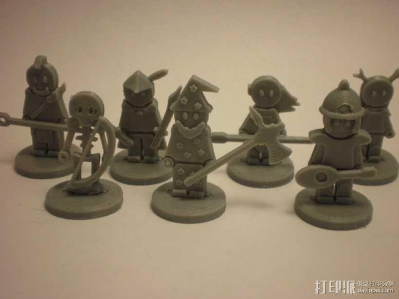 FlatMinis:战士 3D模型  图1