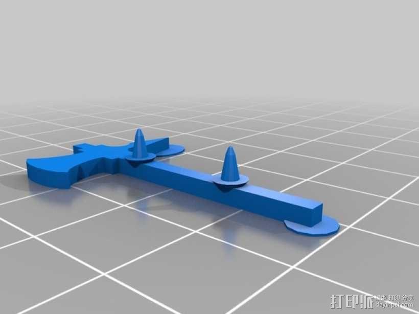 FlatMinis:战士 3D模型  图7