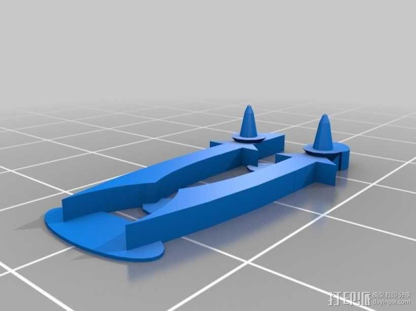 FlatMinis:战士 3D模型  图9