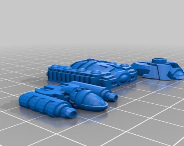星际飞船系列2 3D模型  图3
