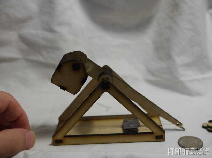 激光切割桌面式抛石机 3D模型  图3