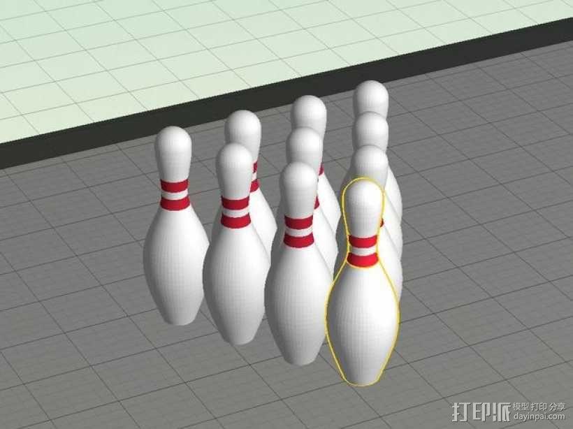 迷你保龄球瓶 3D模型  图3
