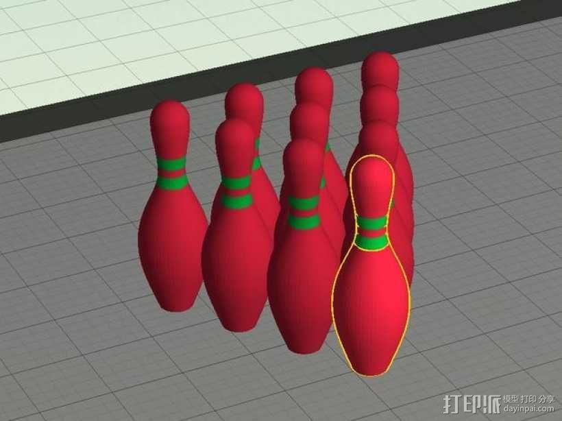迷你保龄球瓶 3D模型  图4