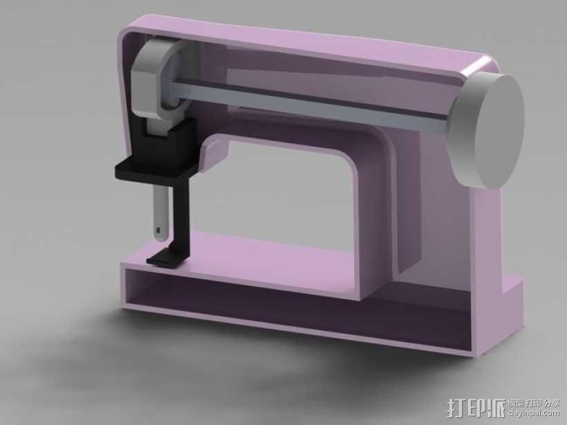 缝纫机玩具 3D模型  图3