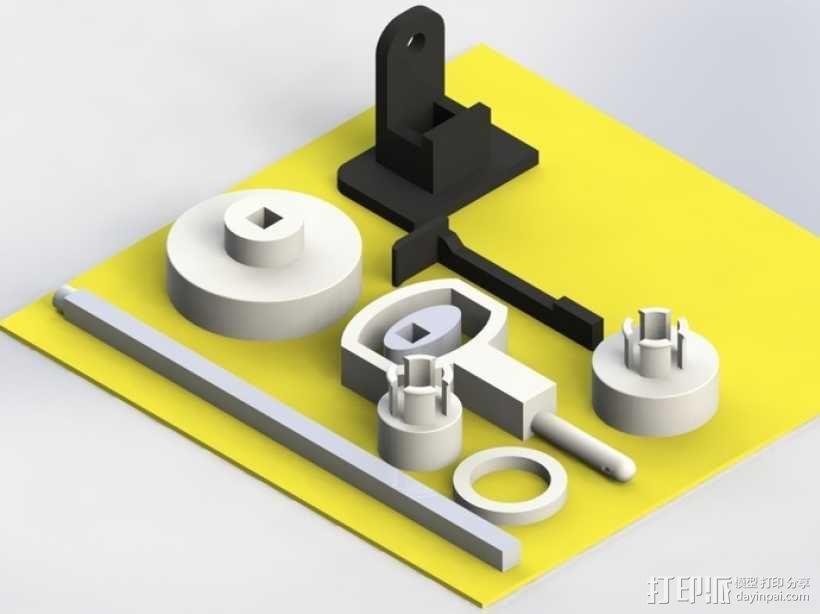 缝纫机玩具 3D模型  图5