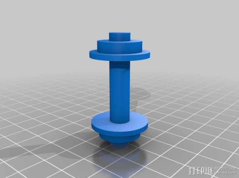 机动轨道车3 3D模型  图4