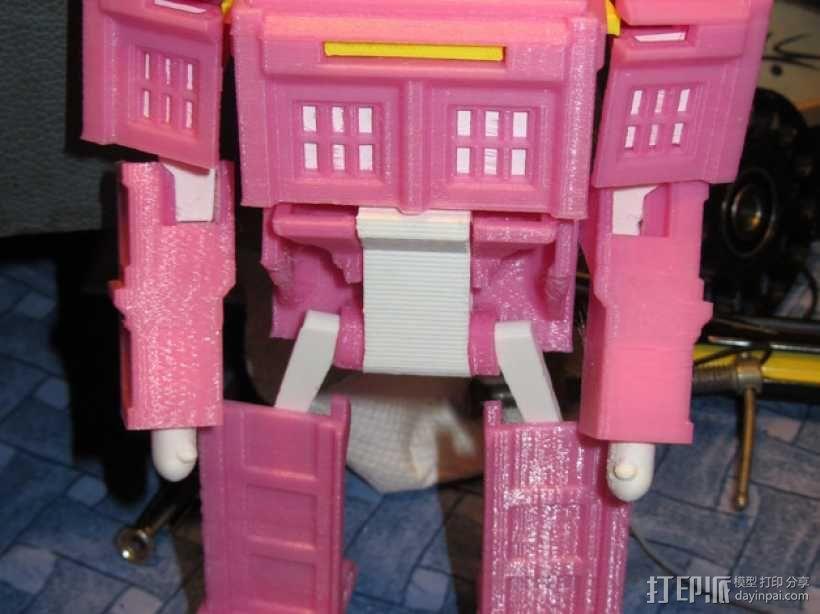 带有凯蒂猫头像的塔迪斯机器人 3D模型  图2