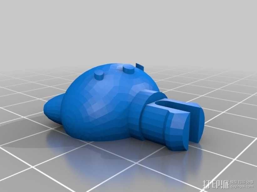 带有凯蒂猫头像的塔迪斯机器人 3D模型  图7