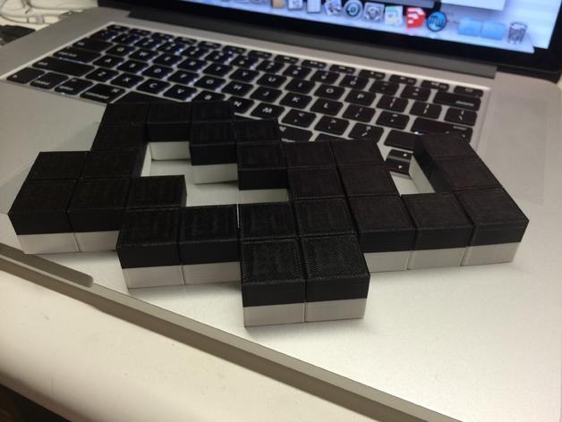 蛇形立方体拼图 3D模型  图2