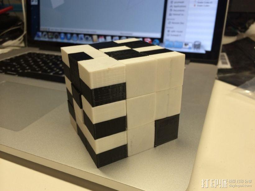 蛇形立方体拼图 3D模型  图1