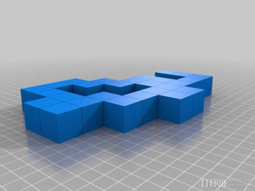 蛇形立方体拼图 3D模型  图3