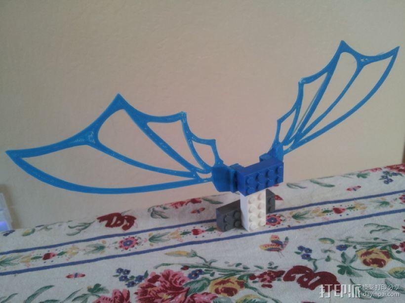 乐高可组装的九头蛇翅膀 3D模型  图5