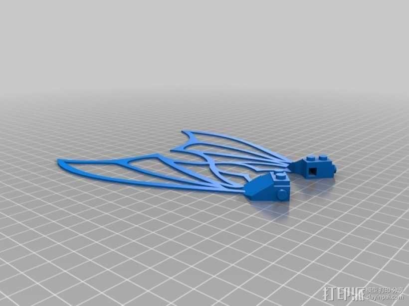 乐高可组装的九头蛇翅膀 3D模型  图4