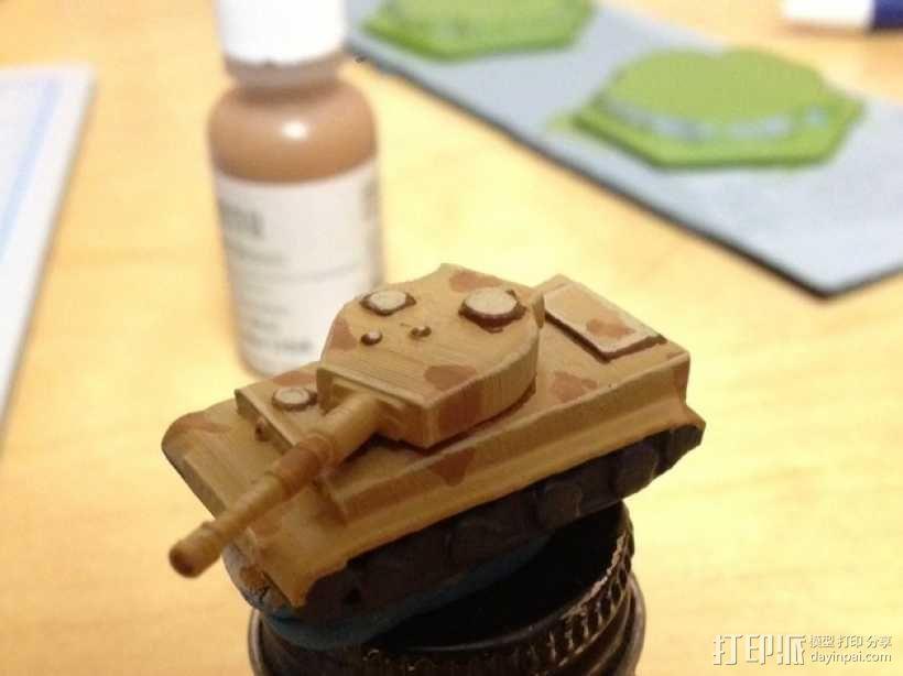虎式坦克1 3D模型  图1