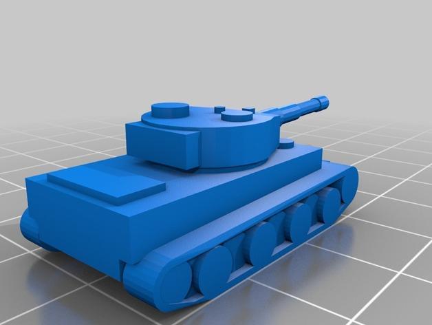 虎式坦克1 3D模型  图2