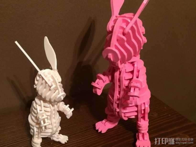 迷你图兔子拼图 3D模型  图2