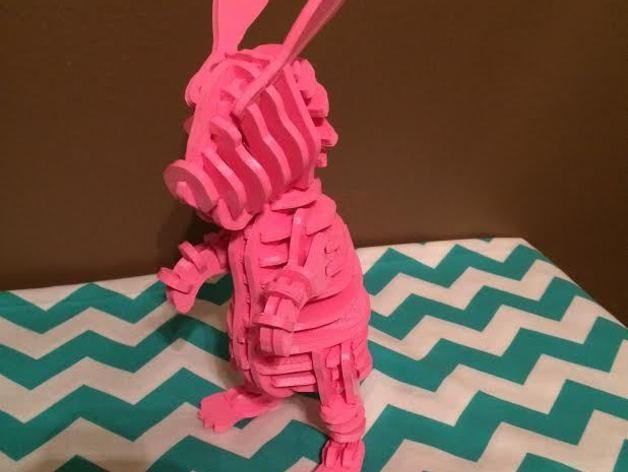 迷你图兔子拼图 3D模型  图3