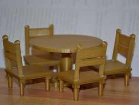 玩具屋桌椅 3D模型