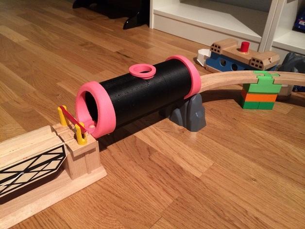 木质火车隧道模型 3D模型  图11