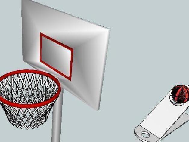 迷你桌面式篮球模型 3D模型  图3