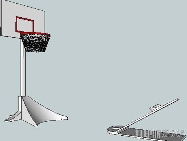 迷你桌面式篮球模型 3D模型  图2