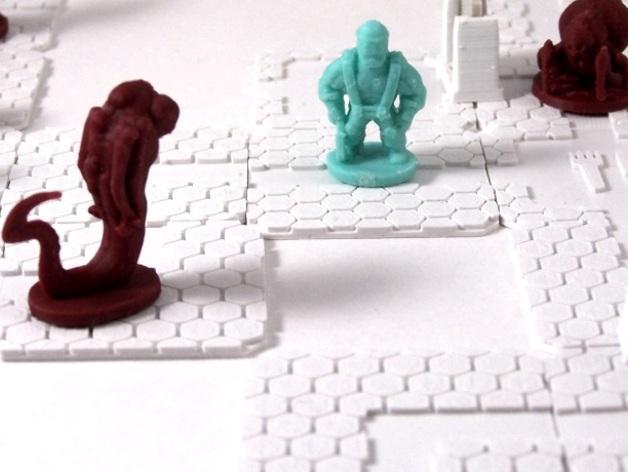 迷你桌游瓦片 3D模型  图3