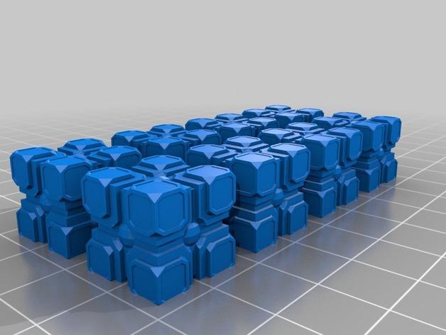迷你桌游瓦片 3D模型  图5