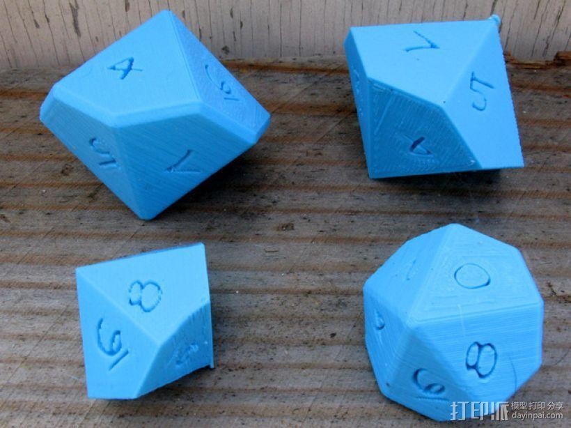 十面体骰子 3D模型  图1