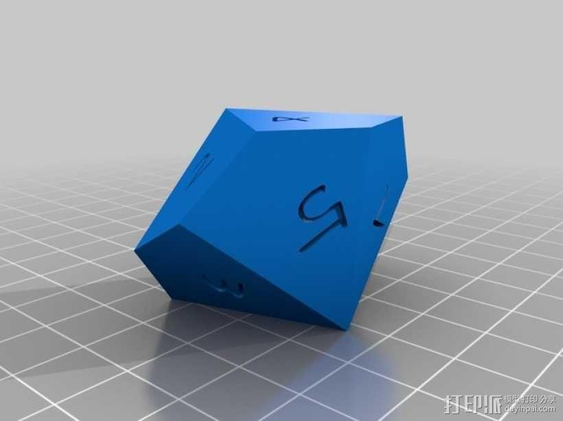 十面体骰子 3D模型  图3