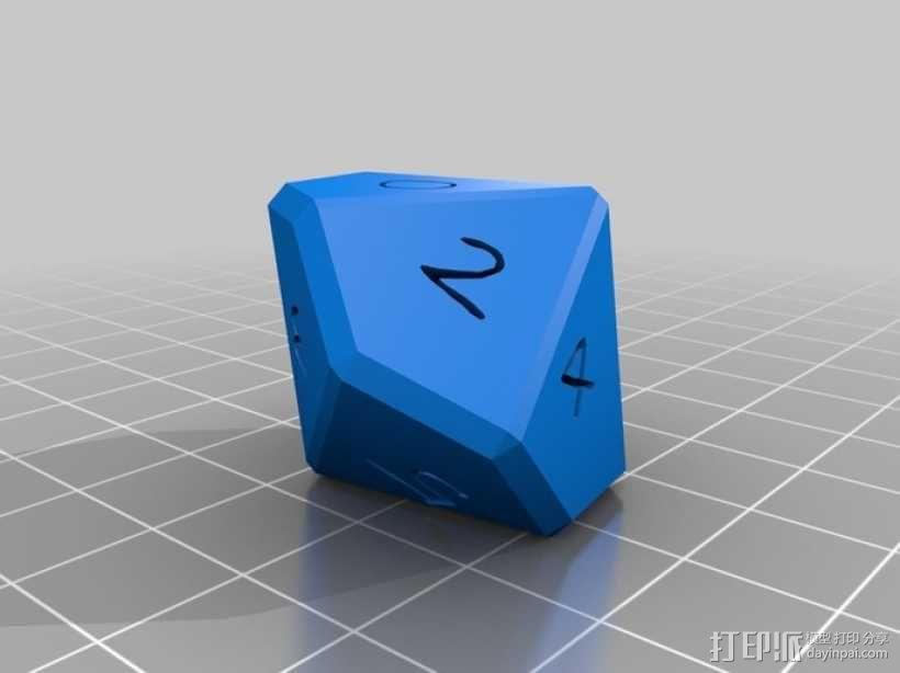 十面体骰子 3D模型  图4
