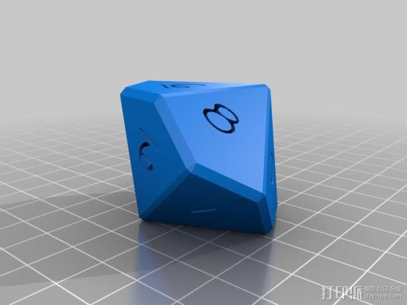 十面体骰子 3D模型  图5
