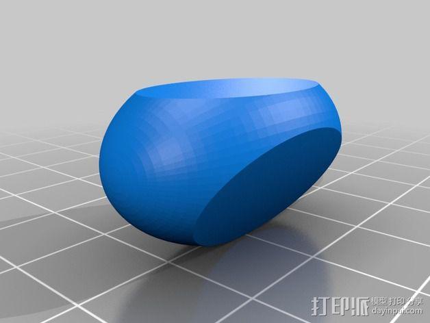 椭圆三面体骰子 3D模型  图2