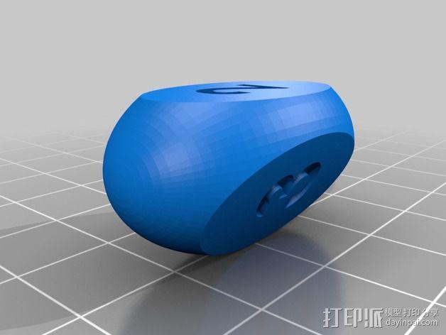 椭圆三面体骰子 3D模型  图6