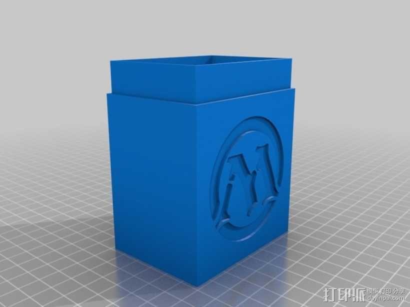 M形魔法卡片收纳盒 3D模型  图2
