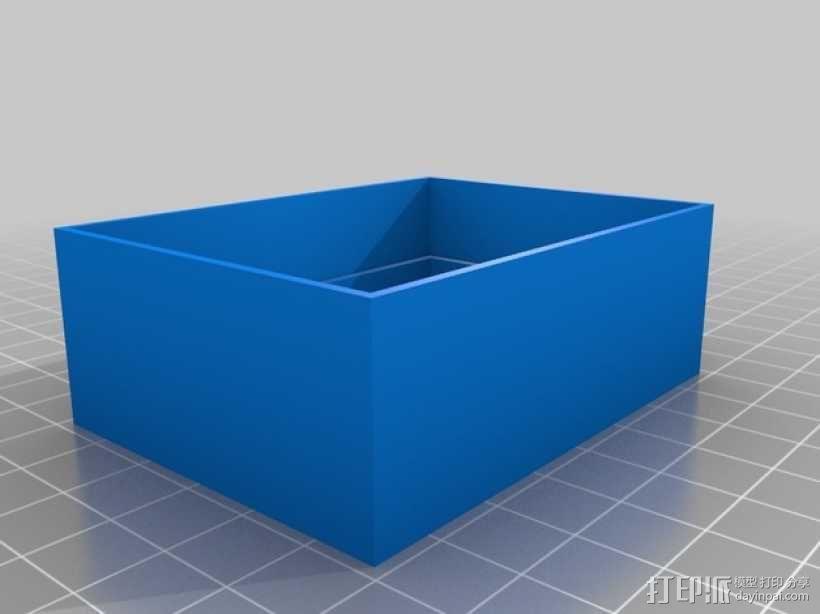 M形魔法卡片收纳盒 3D模型  图3