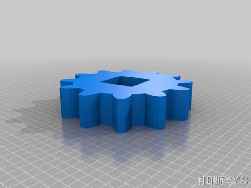 可转动的迷你书架 3D模型  图2