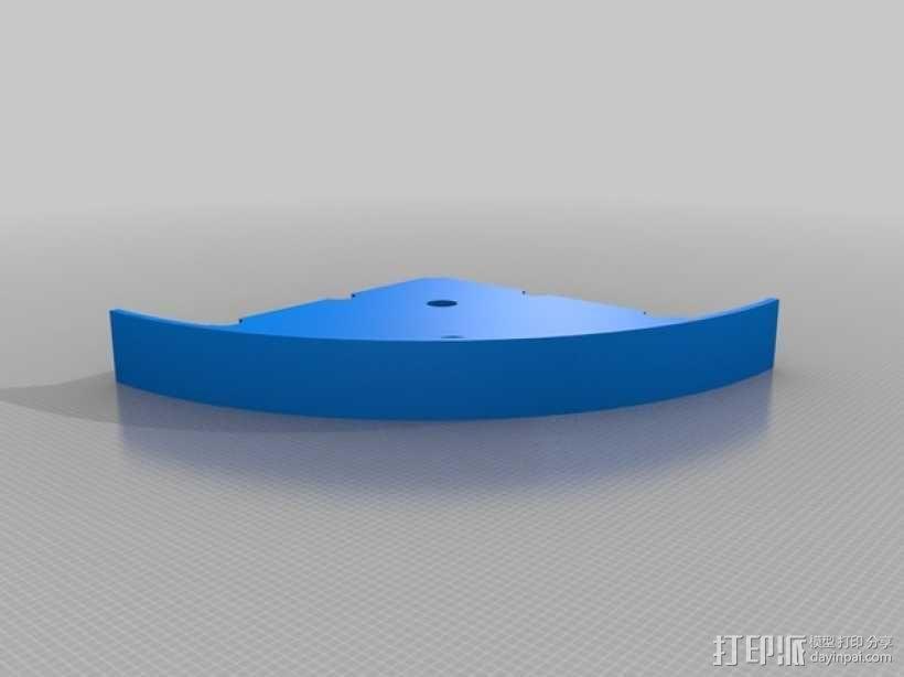 可转动的迷你书架 3D模型  图3